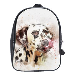 Dog Portrait Pet Art Abstract School Bag (xl) by Celenk