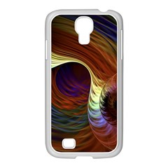 Fractal Colorful Rainbow Flowing Samsung Galaxy S4 I9500/ I9505 Case (white) by Celenk