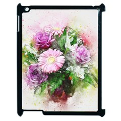 Flowers Roses Bouquet Art Nature Apple Ipad 2 Case (black) by Celenk