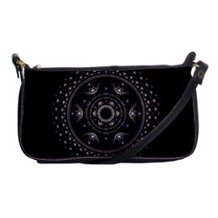 Fractal Mandala Circles Purple Shoulder Clutch Bags by Celenk
