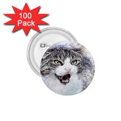 Cat Pet Art Abstract Watercolor 1 75  Buttons (100 Pack)  by Celenk