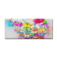 Umbrella Art Abstract Watercolor Cosmetic Storage Cases by Celenk