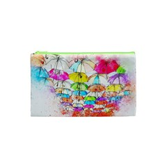 Umbrella Art Abstract Watercolor Cosmetic Bag (xs) by Celenk