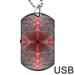 Fractal Diamond Circle Pattern Dog Tag Usb Flash (one Side) by Celenk