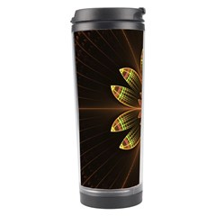 Fractal Floral Mandala Abstract Travel Tumbler by Celenk