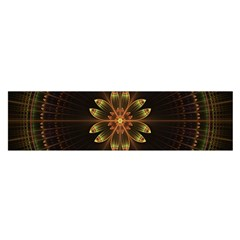 Fractal Floral Mandala Abstract Satin Scarf (oblong) by Celenk