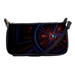 Fractal Circle Pattern Curve Shoulder Clutch Bags by Celenk