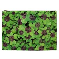 Luck Klee Lucky Clover Vierblattrig Cosmetic Bag (xxl)  by Celenk