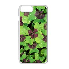 Luck Klee Lucky Clover Vierblattrig Apple Iphone 8 Plus Seamless Case (white) by Celenk