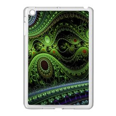 Fractal Green Gears Fantasy Apple Ipad Mini Case (white) by Celenk
