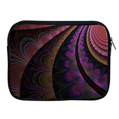 Fractal Colorful Pattern Spiral Apple Ipad 2/3/4 Zipper Cases