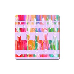 Watercolour Paint Dripping Ink Square Magnet by Celenk