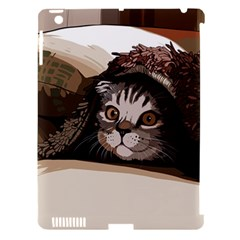 Cat Kitten Cute Pet Blanket Sweet Apple Ipad 3/4 Hardshell Case (compatible With Smart Cover)