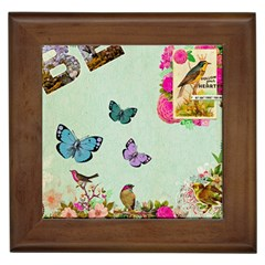 Whimsical Shabby Chic Collage Framed Tiles by 8fugoso