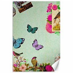 Whimsical Shabby Chic Collage Canvas 24  X 36  by 8fugoso