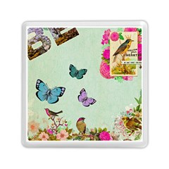 Whimsical Shabby Chic Collage Memory Card Reader (square)  by 8fugoso