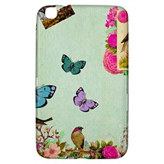 Whimsical Shabby Chic Collage Samsung Galaxy Tab 3 (8 ) T3100 Hardshell Case  by 8fugoso