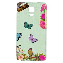 Whimsical Shabby Chic Collage Galaxy Note 4 Back Case by 8fugoso