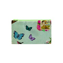 Whimsical Shabby Chic Collage Cosmetic Bag (xs) by 8fugoso