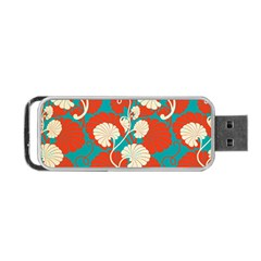 Floral Asian Vintage Pattern Portable Usb Flash (two Sides) by 8fugoso