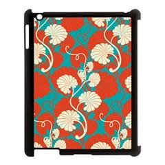 Floral Asian Vintage Pattern Apple Ipad 3/4 Case (black) by 8fugoso