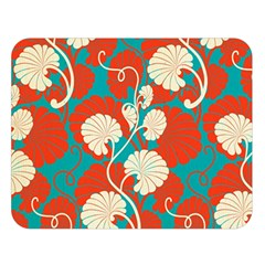 Floral Asian Vintage Pattern Double Sided Flano Blanket (large)  by 8fugoso