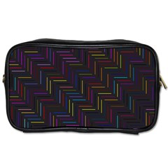 Lines Line Background Toiletries Bags 2 Side by Celenk