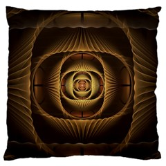 Fractal Copper Amber Abstract Standard Flano Cushion Case (one Side) by Celenk