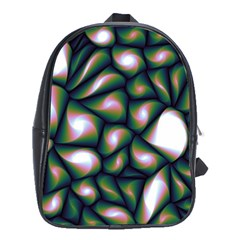Fuzzy Abstract Art Urban Fragments School Bag (xl) by Celenk