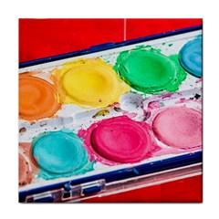 Palette Brush Paint Box Color Face Towel by Celenk