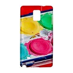 Palette Brush Paint Box Color Samsung Galaxy Note 4 Hardshell Case by Celenk