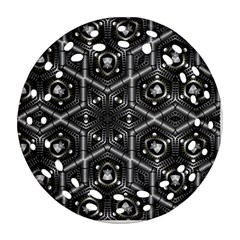 Design Art Pattern Decorative Round Filigree Ornament (two Sides) by Celenk