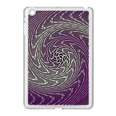 Graphic Abstract Lines Wave Art Apple Ipad Mini Case (white)