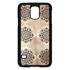 Flower Pattern Pattern Art Samsung Galaxy S5 Case (black) by Celenk