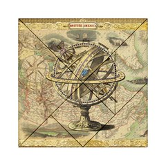 Map Compass Nautical Vintage Acrylic Tangram Puzzle (6  X 6 ) by Celenk