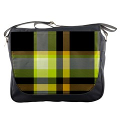 Tartan Abstract Background Pattern Textile 5 Messenger Bags by Celenk