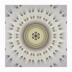 Mandala Fractal Decorative Medium Glasses Cloth (2 Side) by Celenk