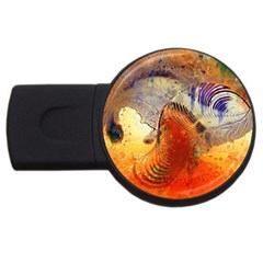 Dirty Dirt Image Spiral Wave Usb Flash Drive Round (4 Gb) by Celenk