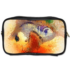 Dirty Dirt Image Spiral Wave Toiletries Bags 2 Side by Celenk