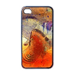 Dirty Dirt Image Spiral Wave Apple Iphone 4 Case (black) by Celenk