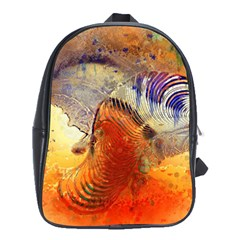 Dirty Dirt Image Spiral Wave School Bag (xl) by Celenk