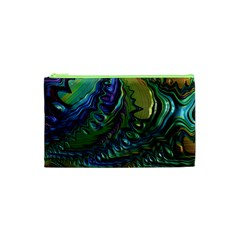 Fractal Art Background Image Cosmetic Bag (xs) by Celenk