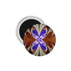 Fractal Splits Silver Gold 1 75  Magnets by Celenk