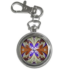 Fractal Splits Silver Gold Key Chain Watches by Celenk