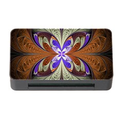 Fractal Splits Silver Gold Memory Card Reader With Cf by Celenk
