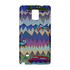 Zig Zag Boats Samsung Galaxy Note 4 Hardshell Case by CosmicEsoteric