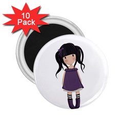 Dolly Girl In Purple 2 25  Magnets (10 Pack)  by Valentinaart
