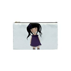 Dolly Girl In Purple Cosmetic Bag (small)  by Valentinaart