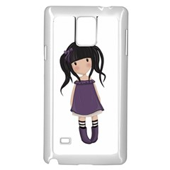 Dolly Girl In Purple Samsung Galaxy Note 4 Case (white) by Valentinaart