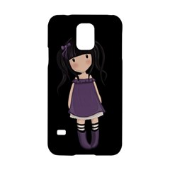 Dolly Girl In Purple Samsung Galaxy S5 Hardshell Case  by Valentinaart